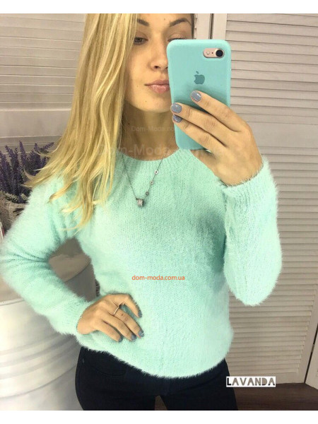 Стильний жіночий светр травка