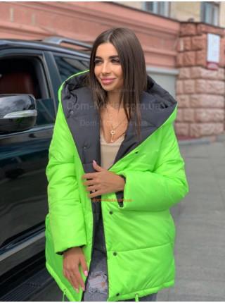 Жіноча двостороння зимова куртка із капюшоном