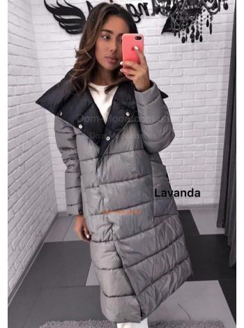 Стильне зимове двостороннє пальто