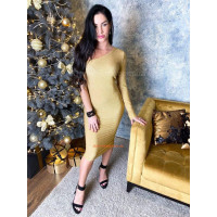 Жіноче вечірнє плаття облягаюче із одним рукавом