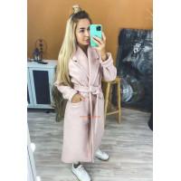 Модное кашемировое пальто без подкладки