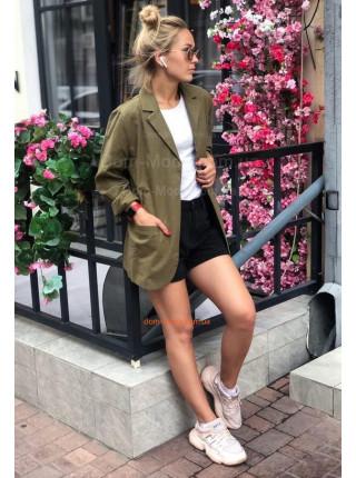 Стильний лляний жіночий піджак