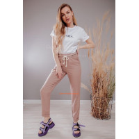 Лляні літні брюки із поясом