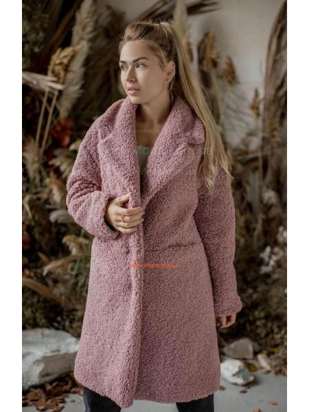 Женская искусственная шуба пальто из овчины