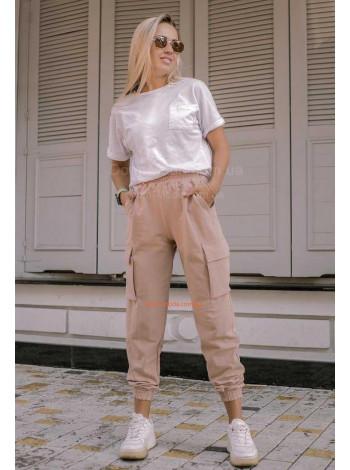 Жіночі модні штани з завищеною талією