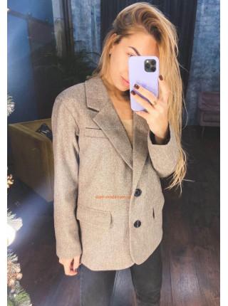 Шерстяной пиджак женский