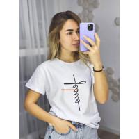 Женская модная футболка с принтом
