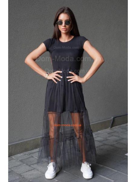 Довге плаття з сіткою