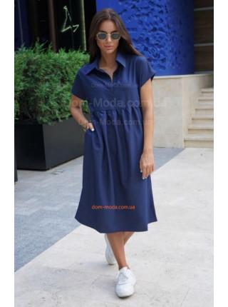 Літня сукня сорочка вільного крою з коротким рукавом