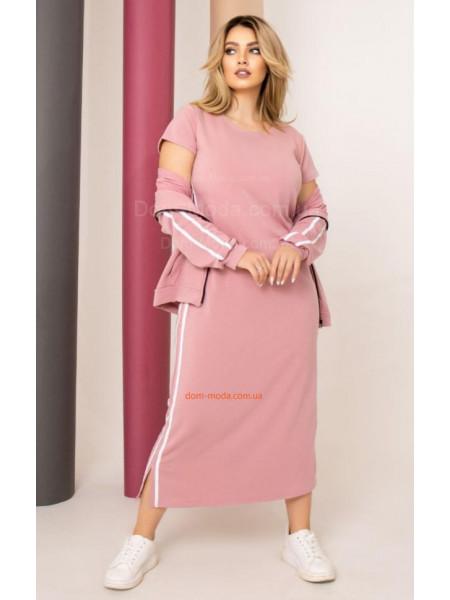 Довга сукня з кофтою
