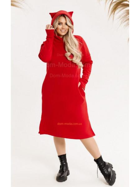Тепле плаття з вушками