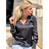 Модна жіноча блузка з шовку з довгим рукавом
