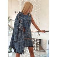 Стильный деловой костюм платье с пиджаком