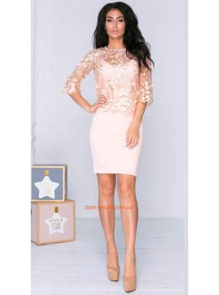Вечірнє міні плаття із вишивкою