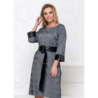 Недорогое короткое платье в клетку для полных женщин