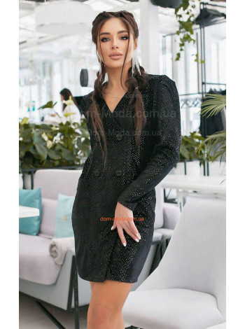 Нарядное женское велюровое платье с пайеткой