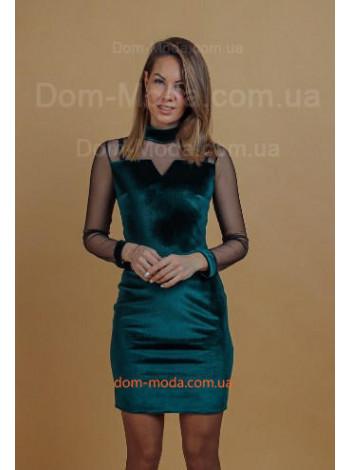 Жіноче бархатне коротке плаття