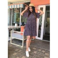 Женское летнее модное платье в цветочный принт