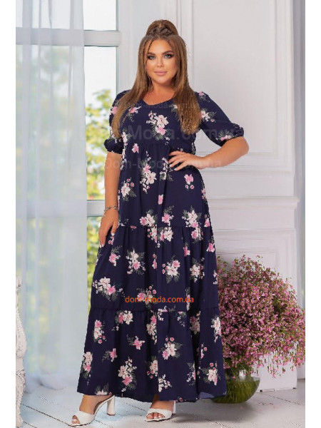 Довге плаття в квіточку великого розміру