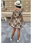 Летнее платье из штапеля в цветочек женское