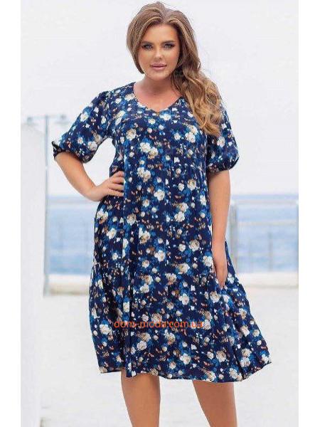 Літнє плаття з штапеля великого розміру