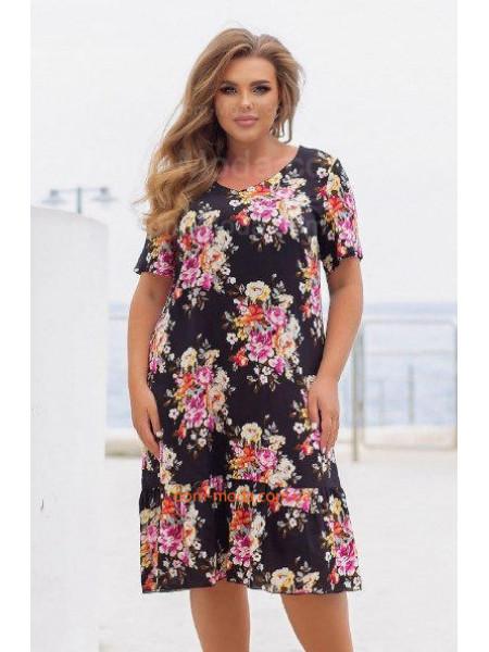 Літнє плаття з штапеля для повних жінок