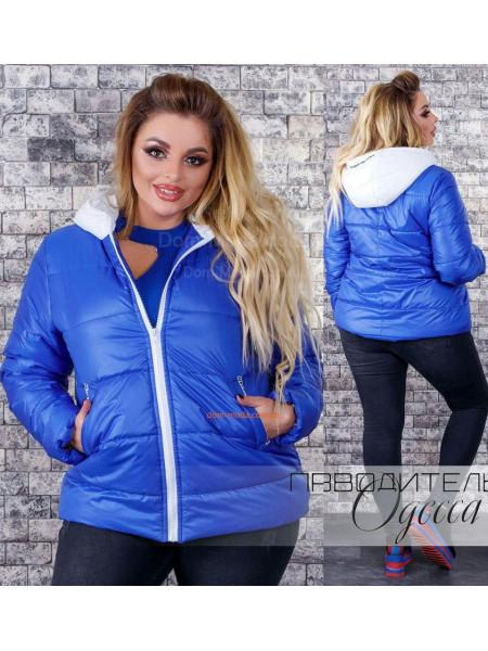 Жіноча куртка з плащової тканини на синтепоні великого розміру ... 17218bf5dbd28