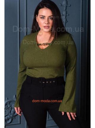 Модная женская кофта с длинным рукавом