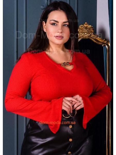 Модна жіноча кофта з довгим рукавом