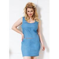 Стрейчевое женское платье джинсовое