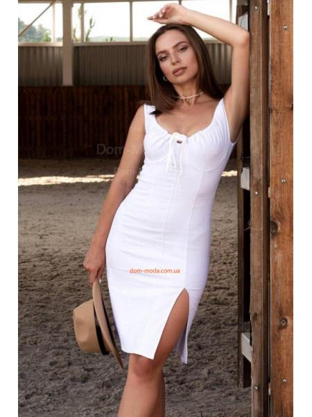 Джинсова сукня олівець з розрізом