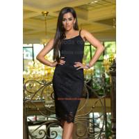 Кружевная черная юбка женская