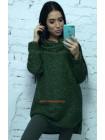 """Удлиненный свитер с хомутом """"Люрекс"""""""
