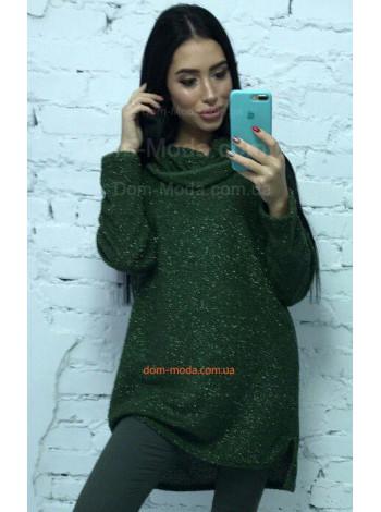 """Подовжений светр з хомутом """"Люрекс"""""""