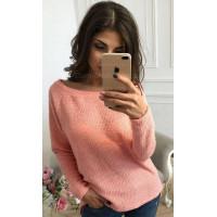 Модный свитер вязка с люрексом