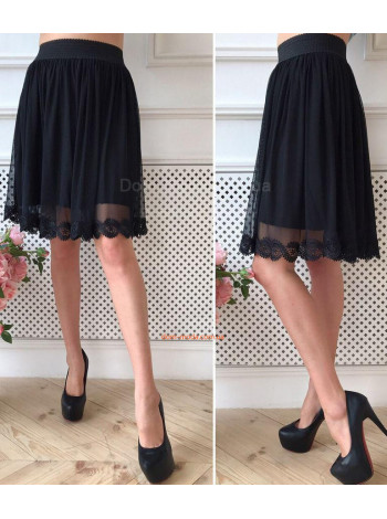 Черная юбка на резинке