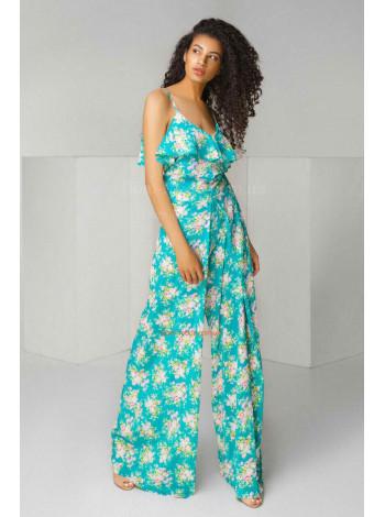 Женский модный комбинезон с цветочным принтом