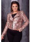 Куртка кожаная женская косуха большого размера