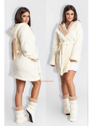 Махровый халат с сапожками