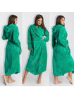 Махровий довгий халат з капюшоном