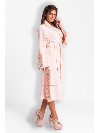 Красивий велюровий халат жіночий