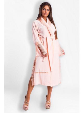 Красивый велюровый халат женский