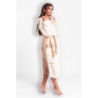 Длинный женский халат махровый с капюшоном