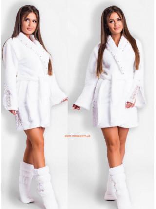 Женский махровый халат с сапожками