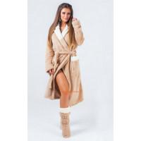 Женский набор: махровый халат и сапожки в комплекте
