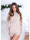 Женская теплая пижама с шортами