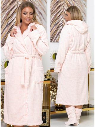 Махровий халат з чобітками жіночий