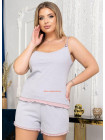 Пижама женская с шортами большой размер
