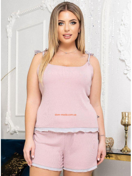 Піжама жіноча з шортами великий розмір