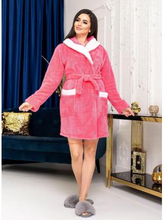 Махровый халат женский короткий
